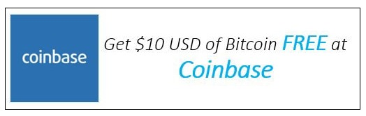 Get $10 USD of Bitcoin from Coinbase