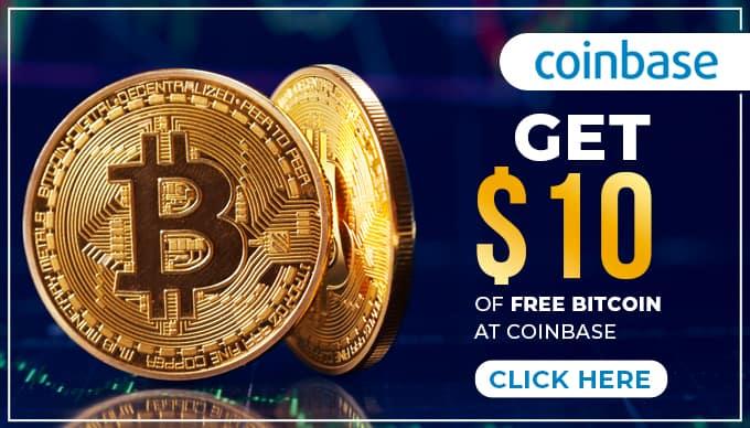 Get $10 of FREE BITCOIN at Coinbase